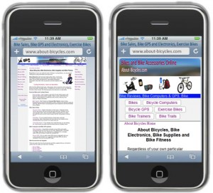 Old and New Responsive Design smartphone display