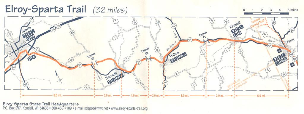 The ElroySparta Bike Trail Wisconsin  Descriptions And